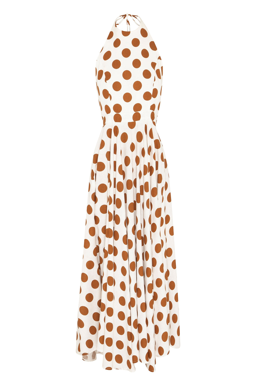 Inka Dress In Tan Spot