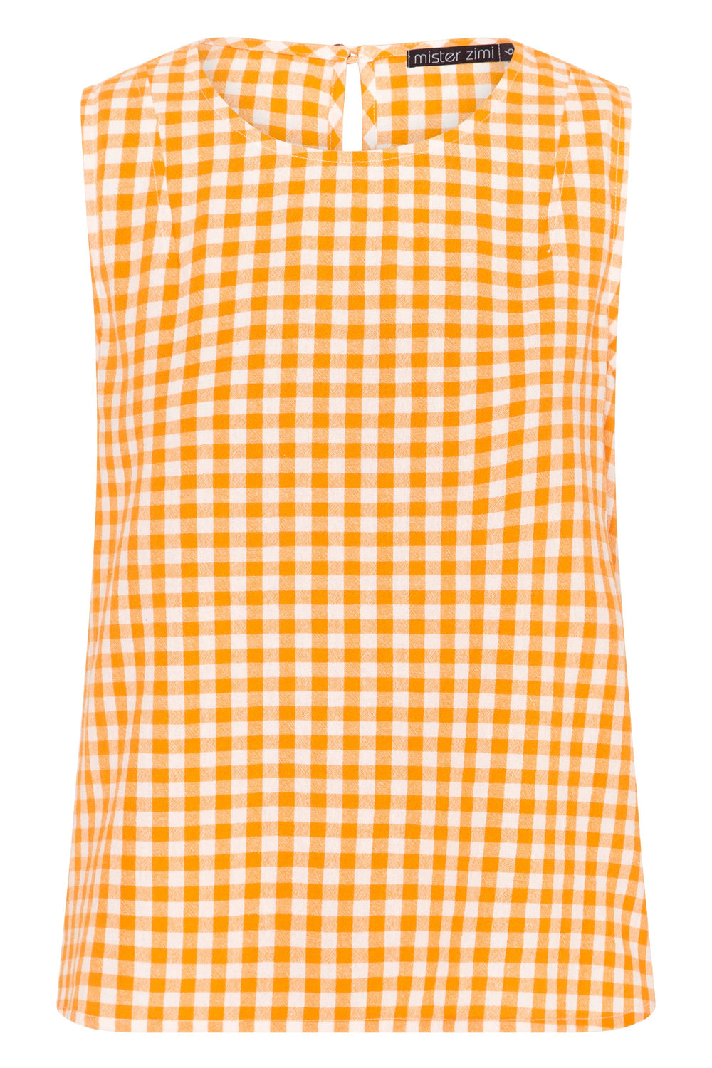 Lottie Top In Apricot Gingham