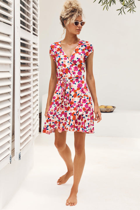 Summer Colette Dress In Pansy