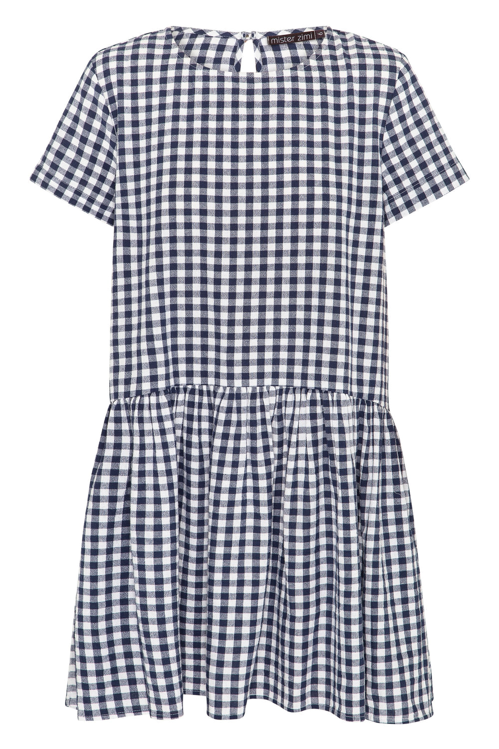 Summer Elsa Dress In Navy Gingham