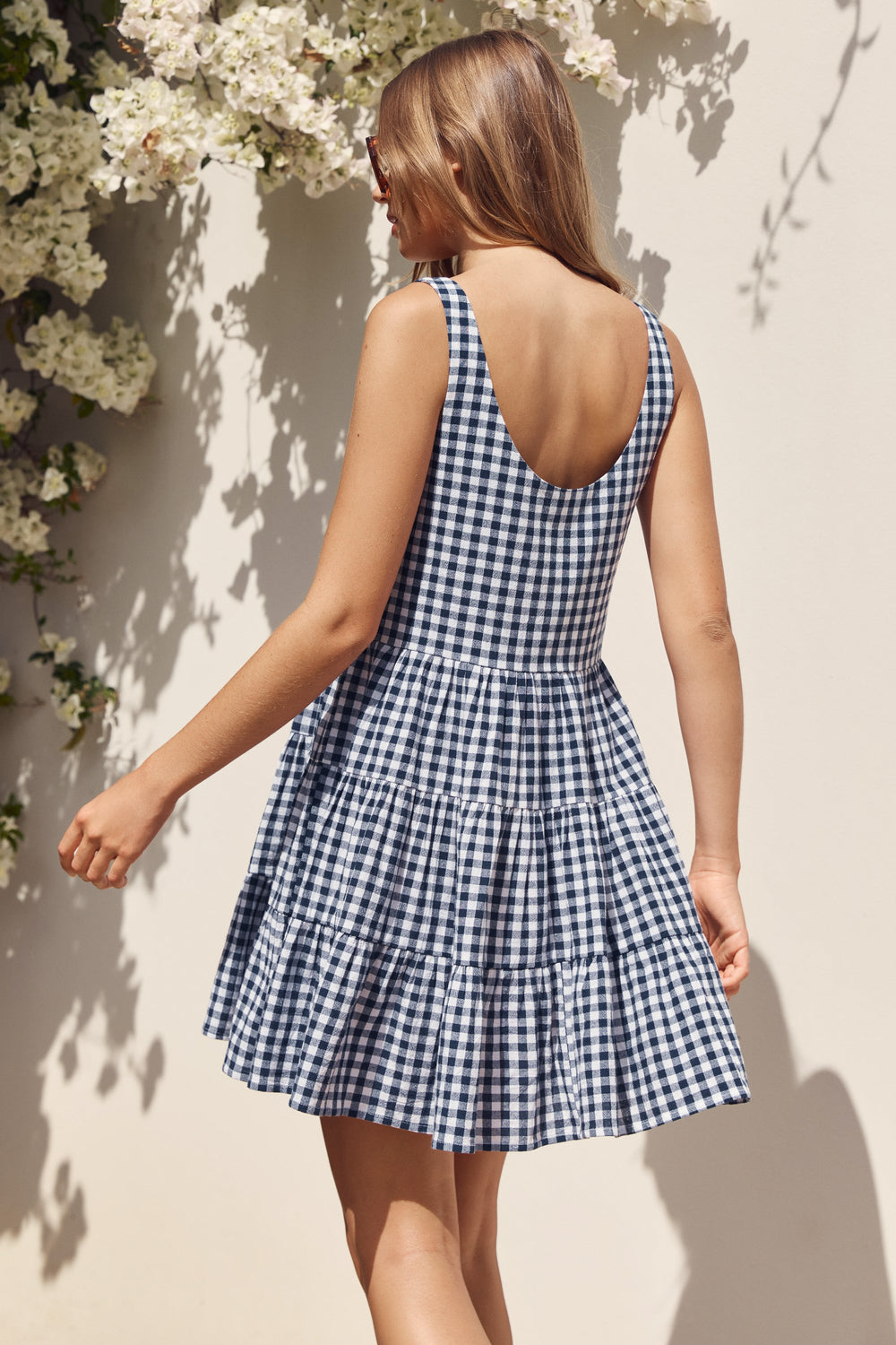Winifred Dress In Navy Gingham