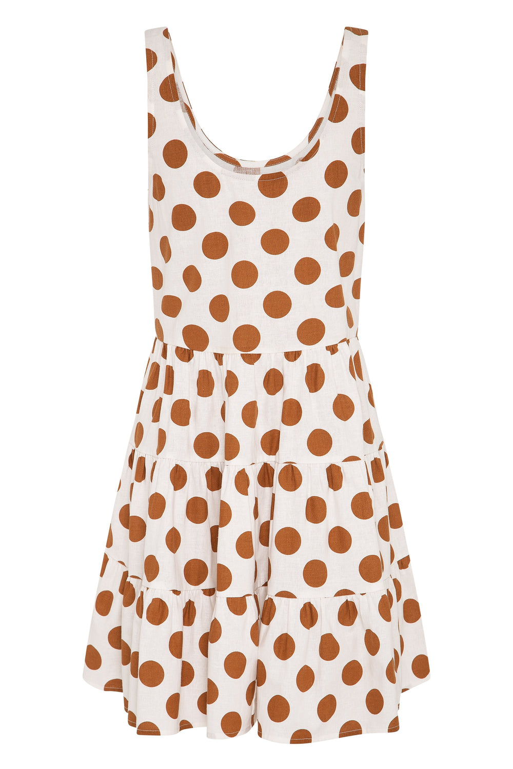 Winifred Dress In Tan Spot