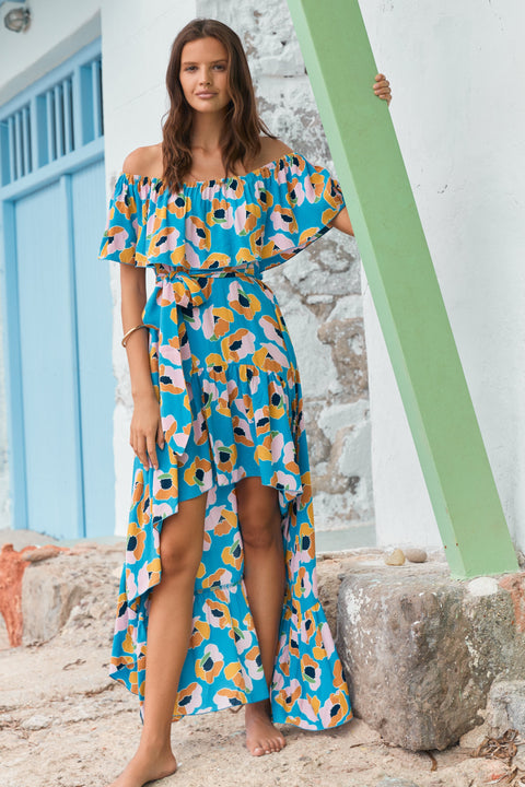 Cleo Dress In Pina Colada