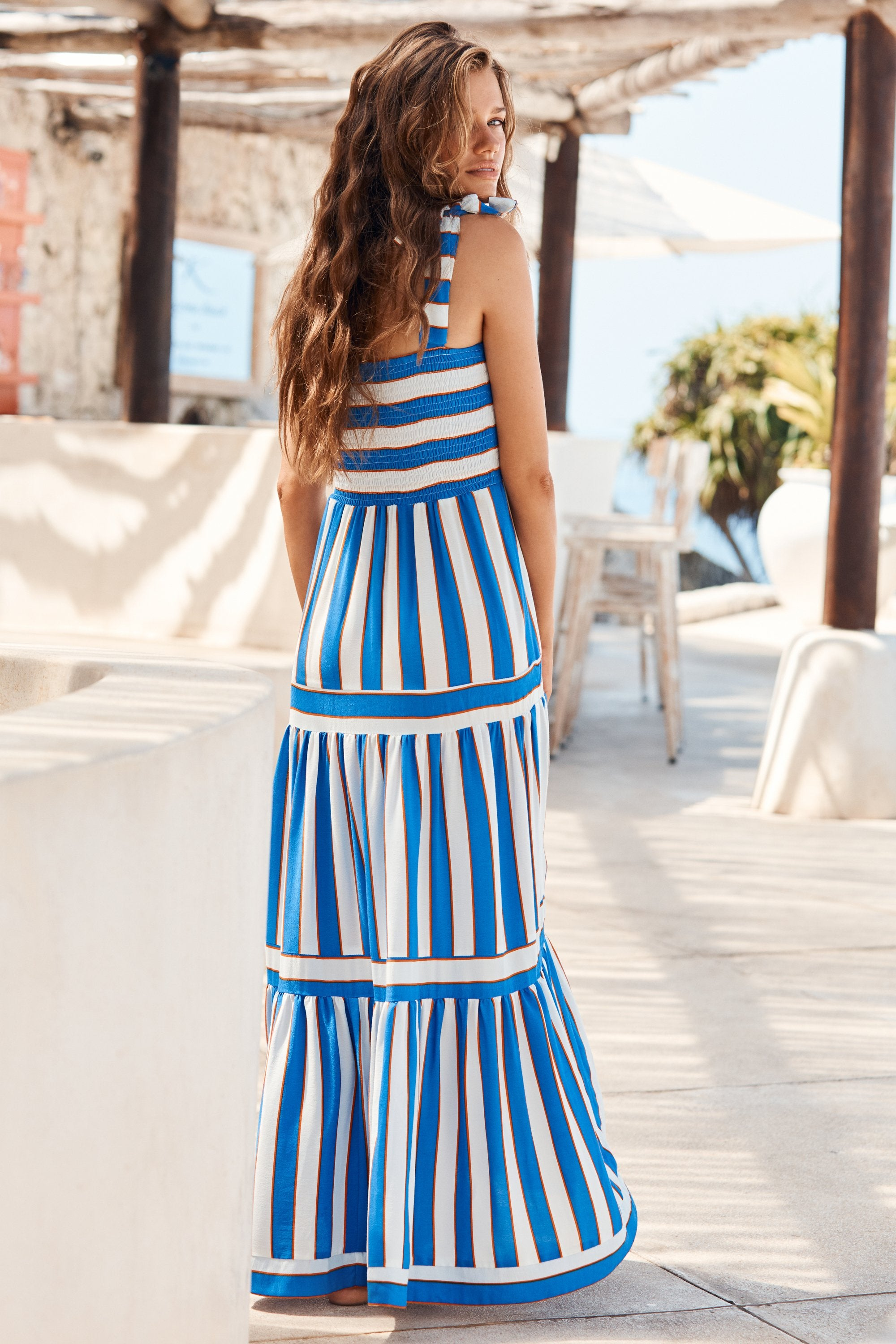 Ella Dress In Aegean Stripe