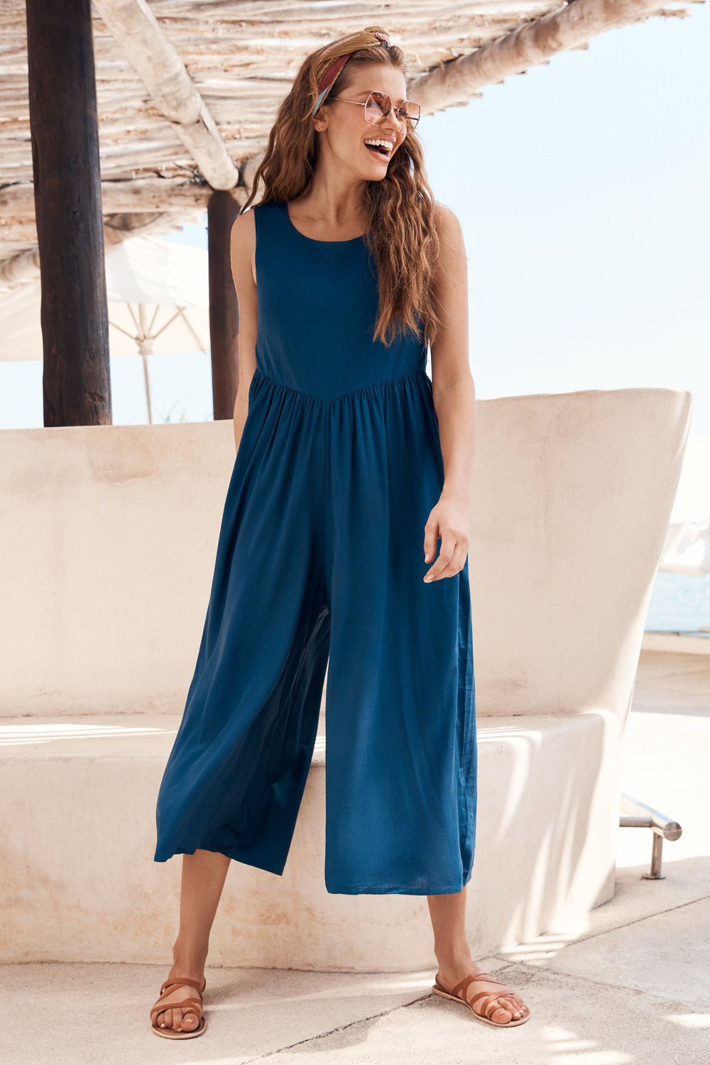Libby Jumpsuit In Marine