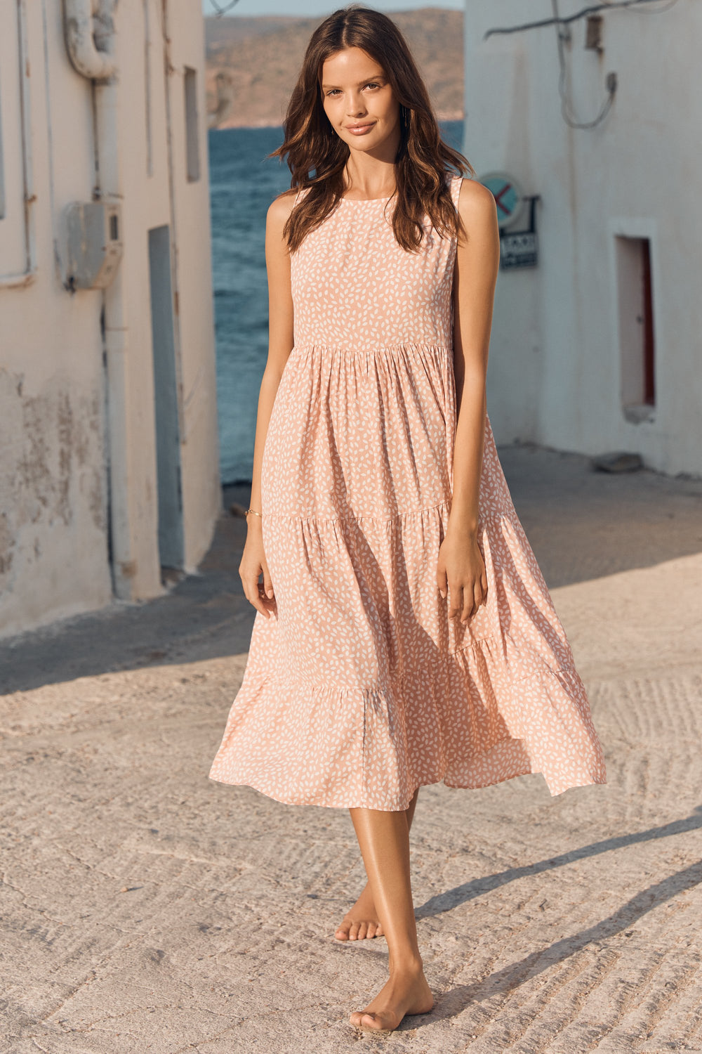 Olivia Midi Dress In Blossom