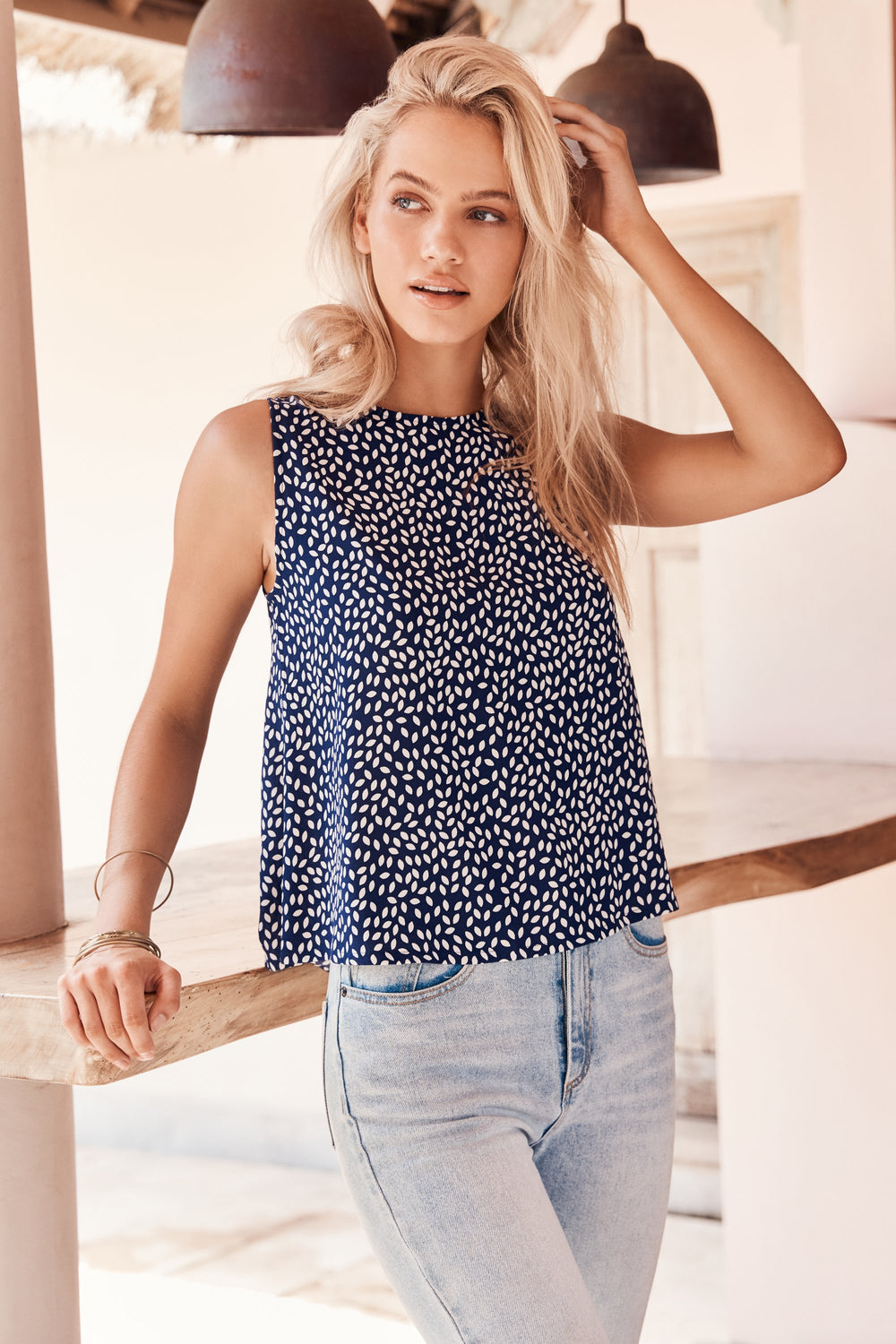 Sleeveless Tina Top In Paloma