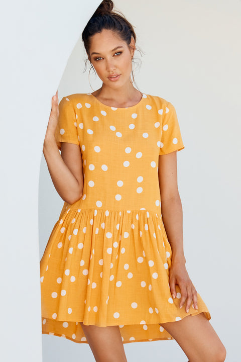 Summer Elsa Dress In Buttercup Spot