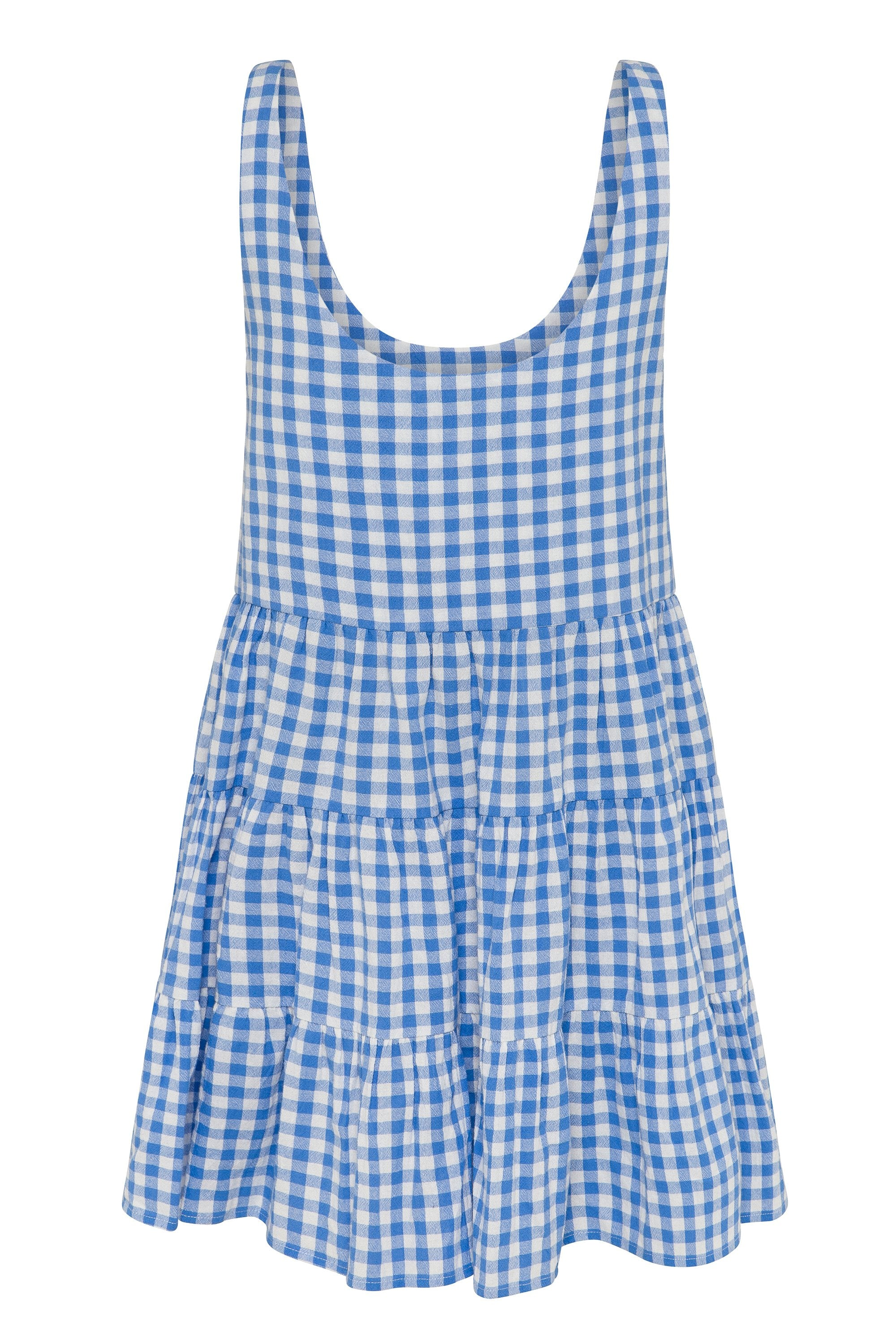 Winifred Dress In Blue Gingham
