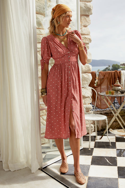 Saskia Dress In Wild Rose