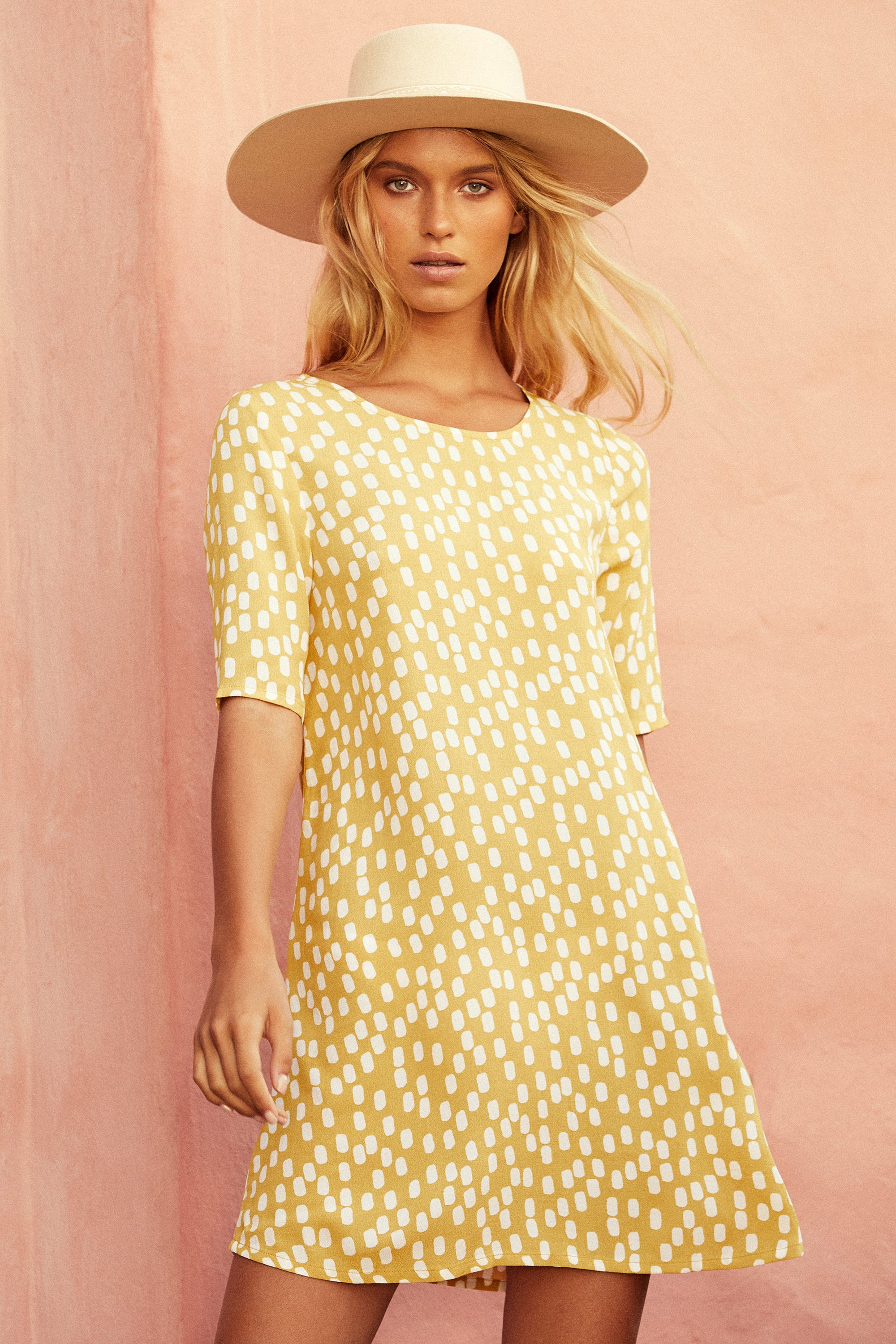 Tina Dress In Chartreuse
