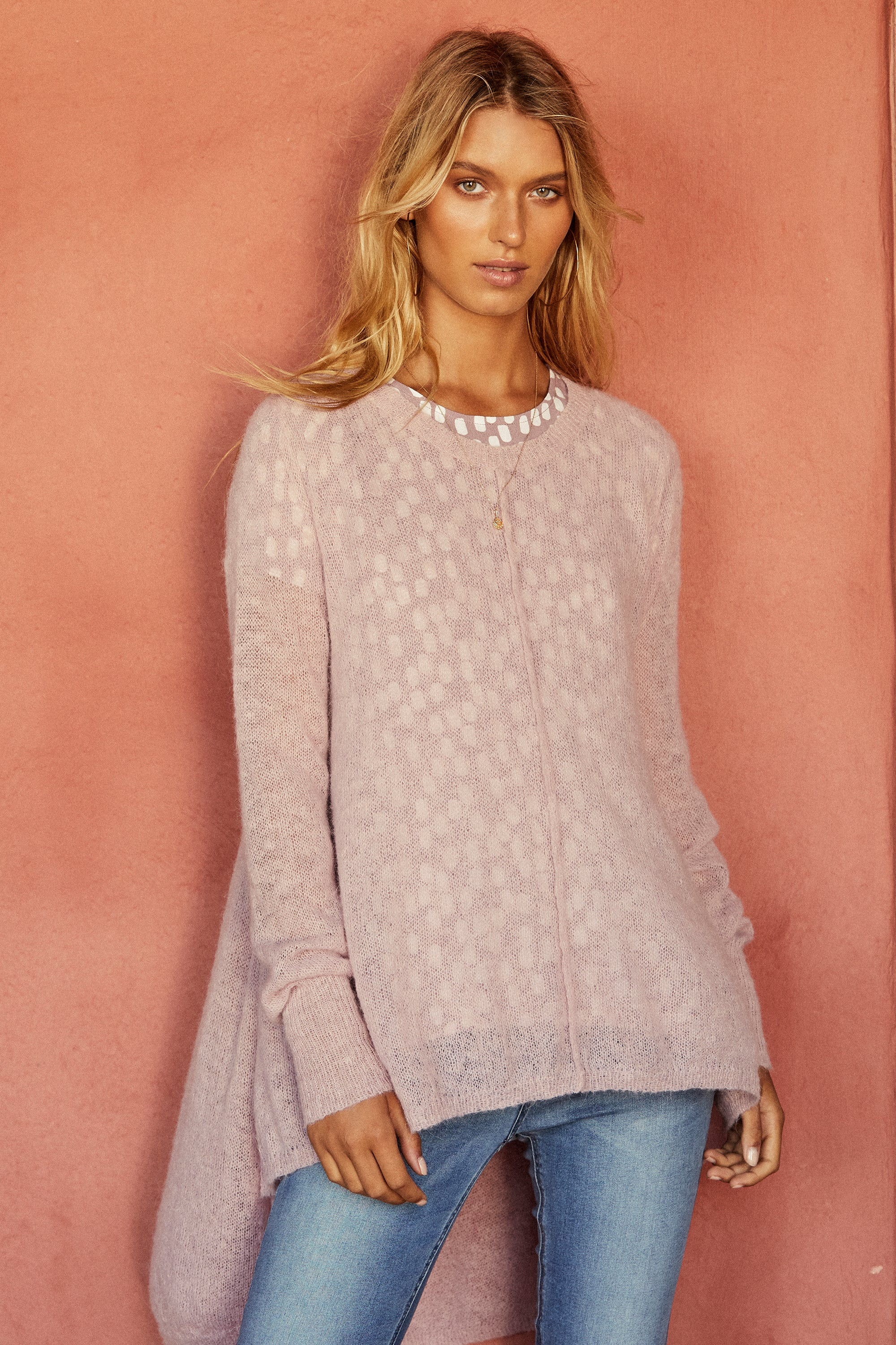 Theodora Jumper In Blush