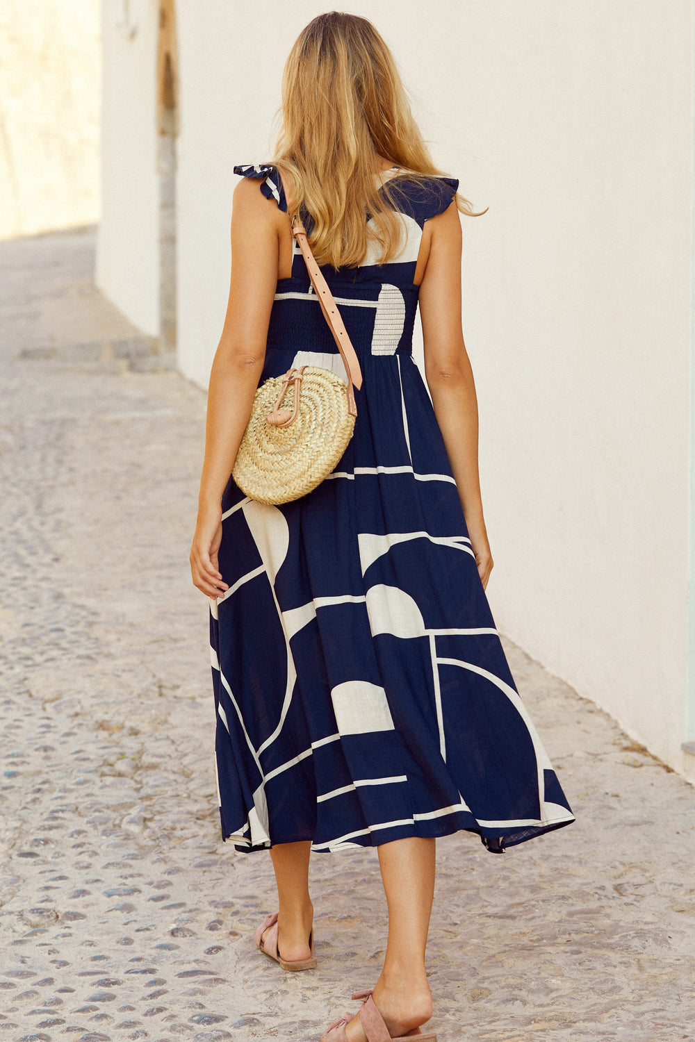 Abbie Linen Dress In Playa