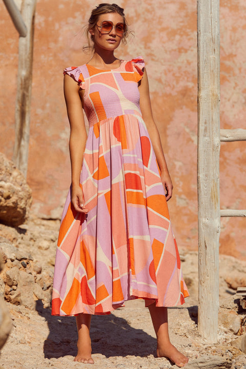 Abbie Dress In Sunset