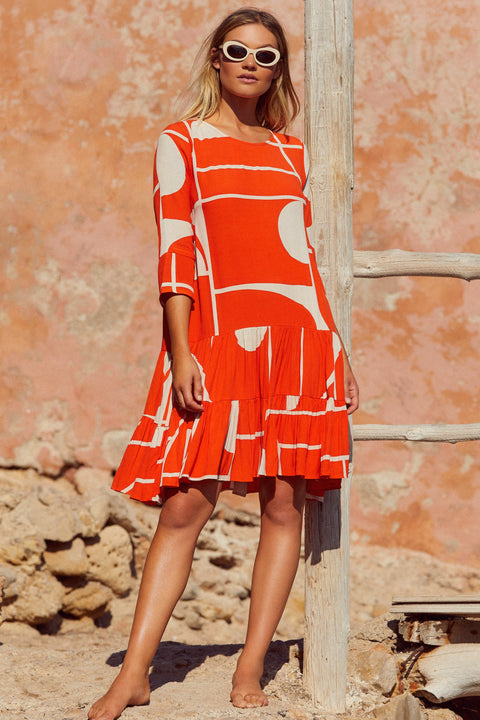 Arabella Dress In La Sol