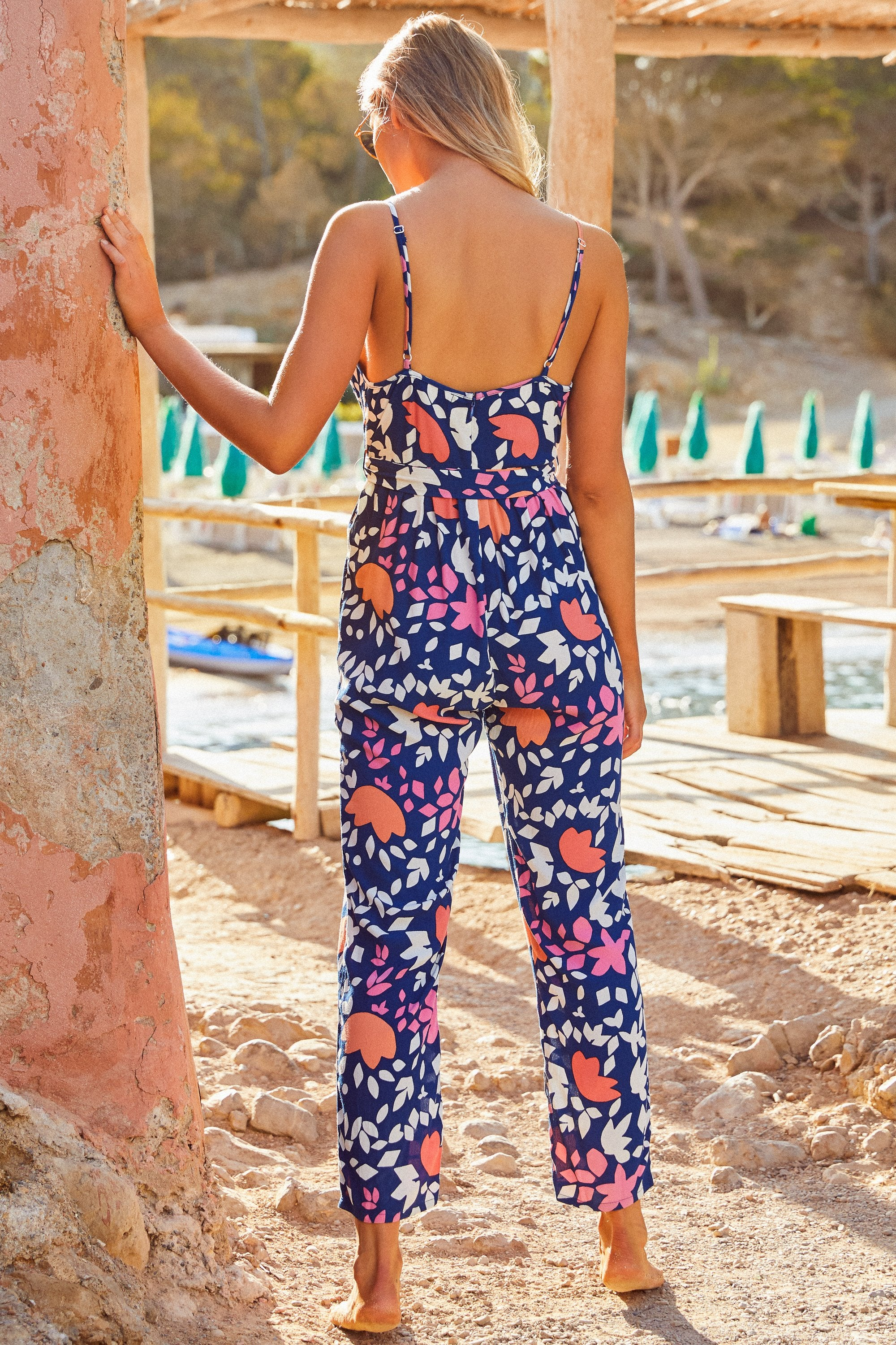 Barbi Jumpsuit In Del Mar
