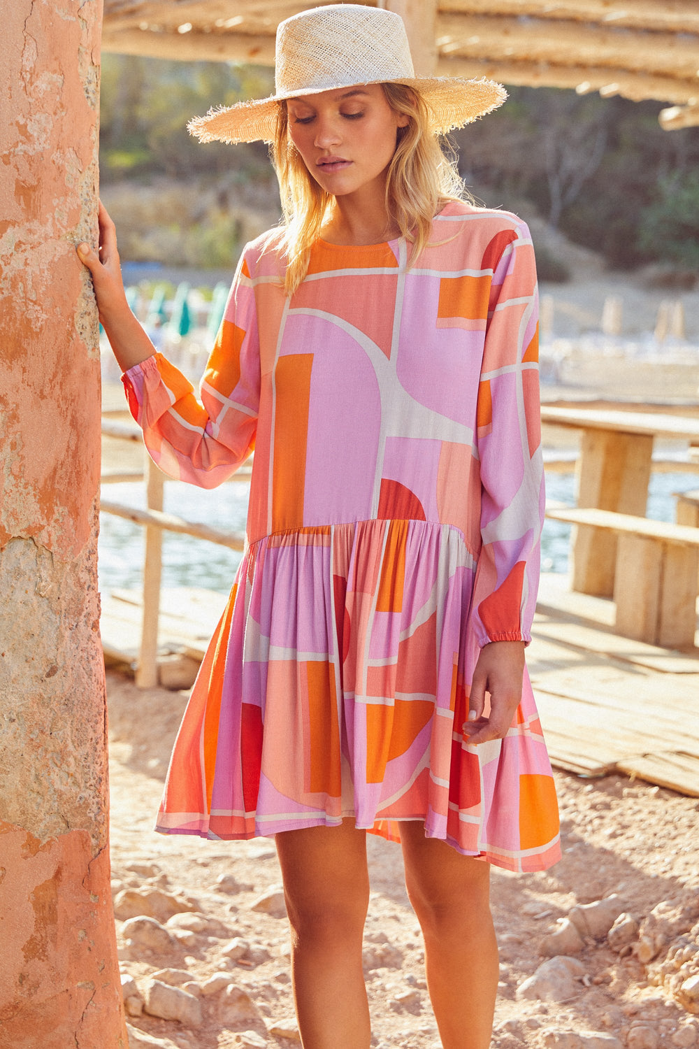 Elsa Dress In Sunset