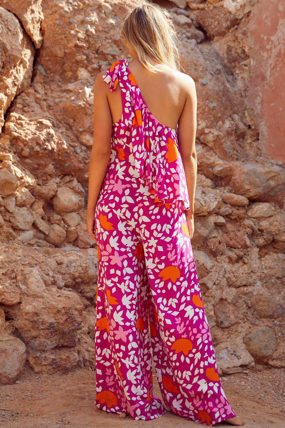 Jasmine Jumpsuit In Rosada