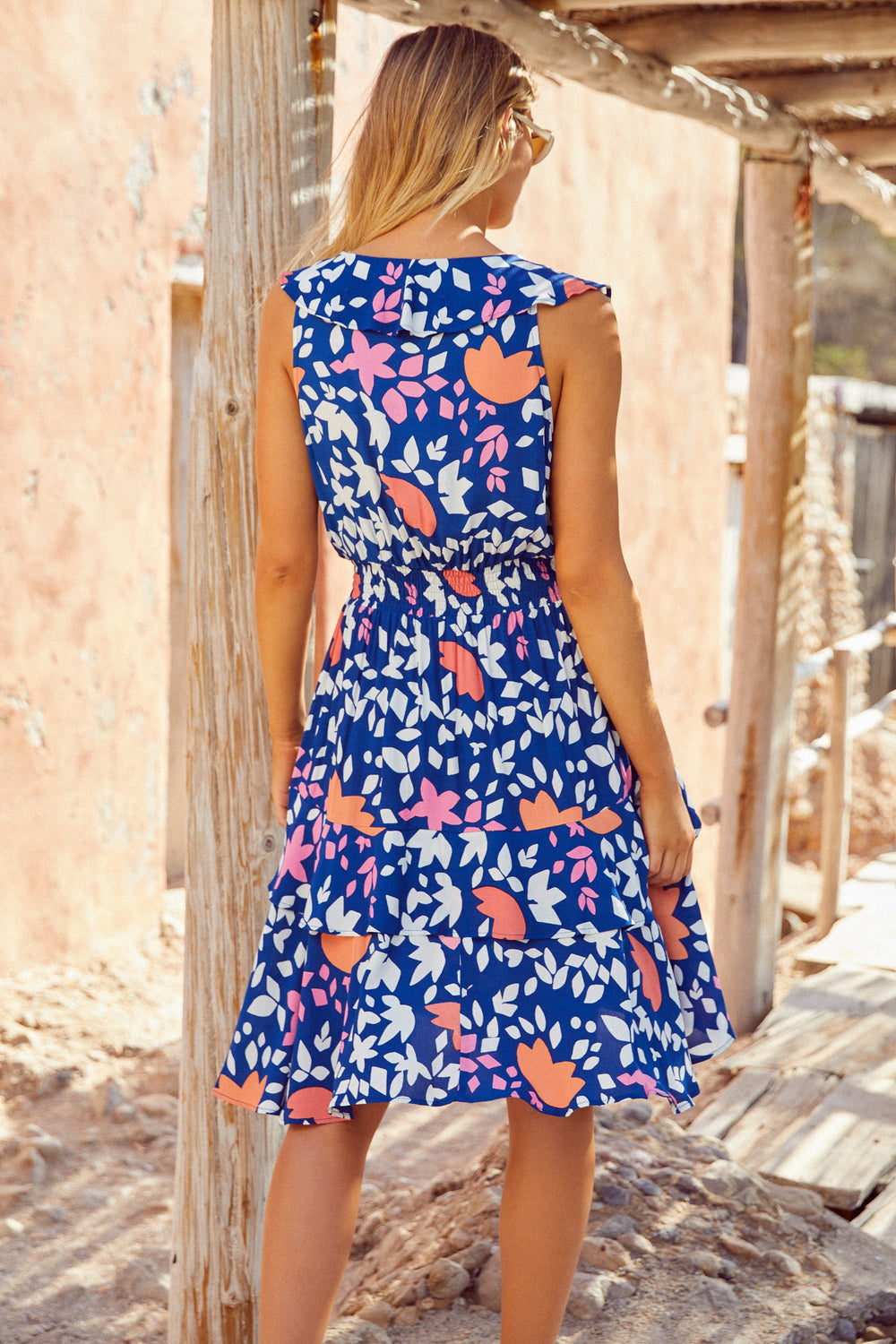 Rosa Dress In Del Mar Eco Vero