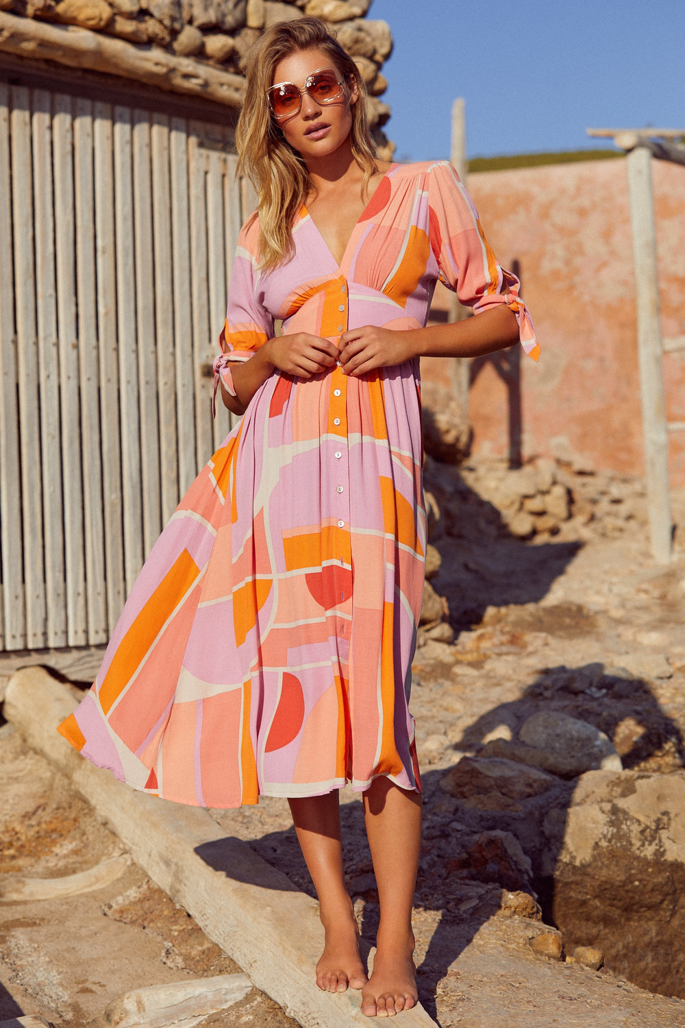 Saskia Dress In Sunset