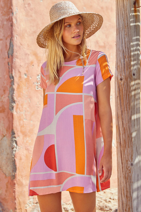 Spring Tina Dress In Sunset