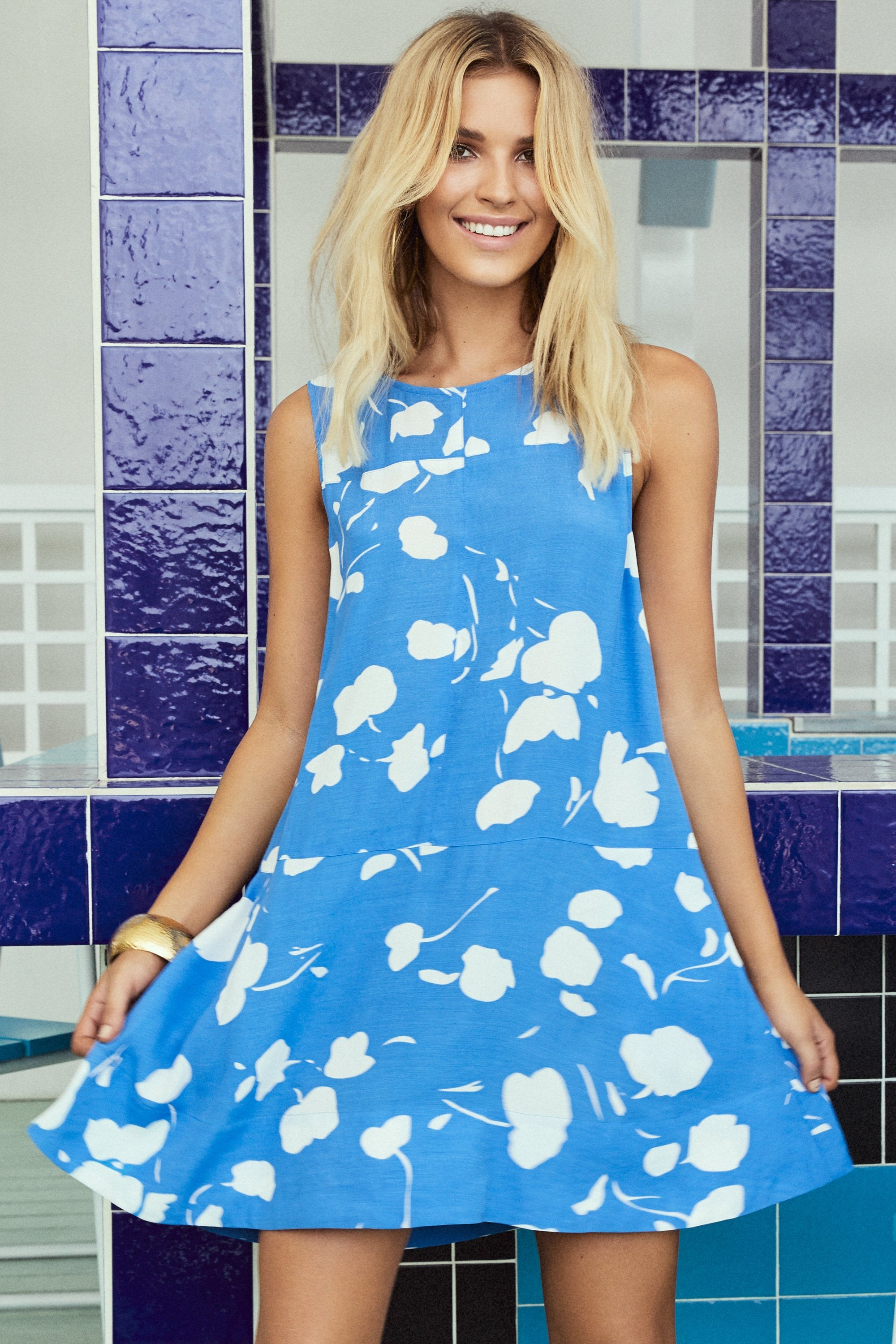 Lulu Swing Dress In Xanadu