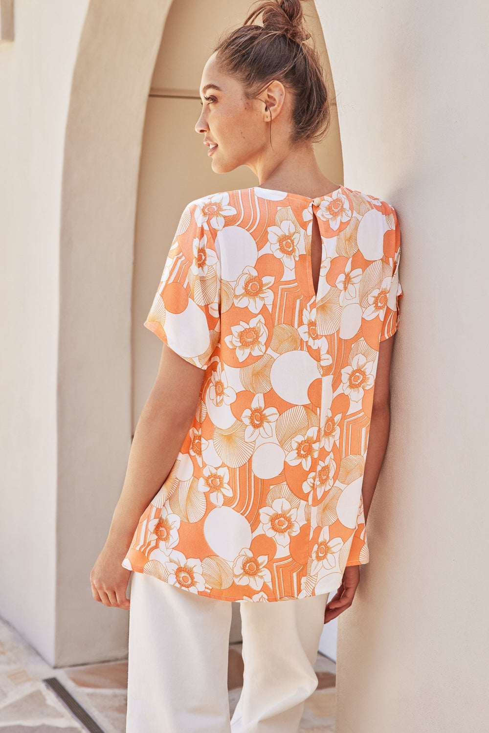 Daisy Top In Tangerine