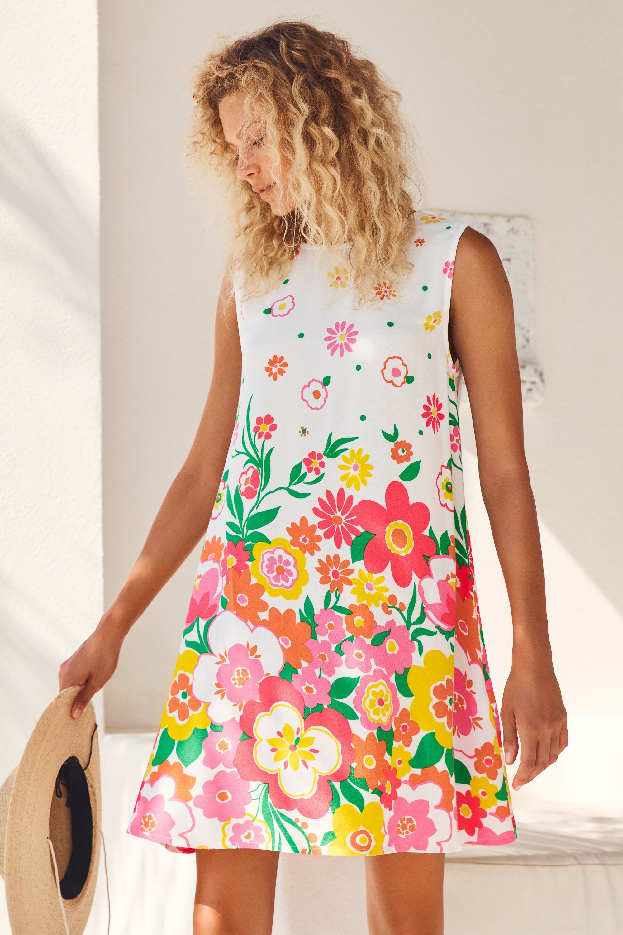 Sleeveless Tina Dress In Meadow