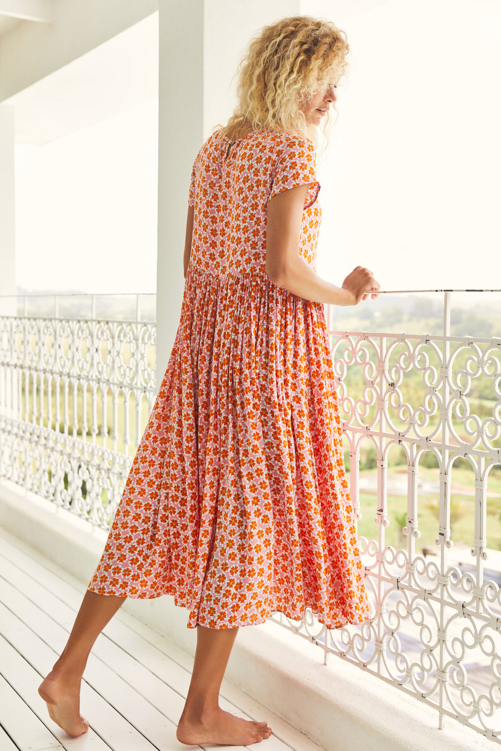 Spring Zoe Dress In Honey Blossom