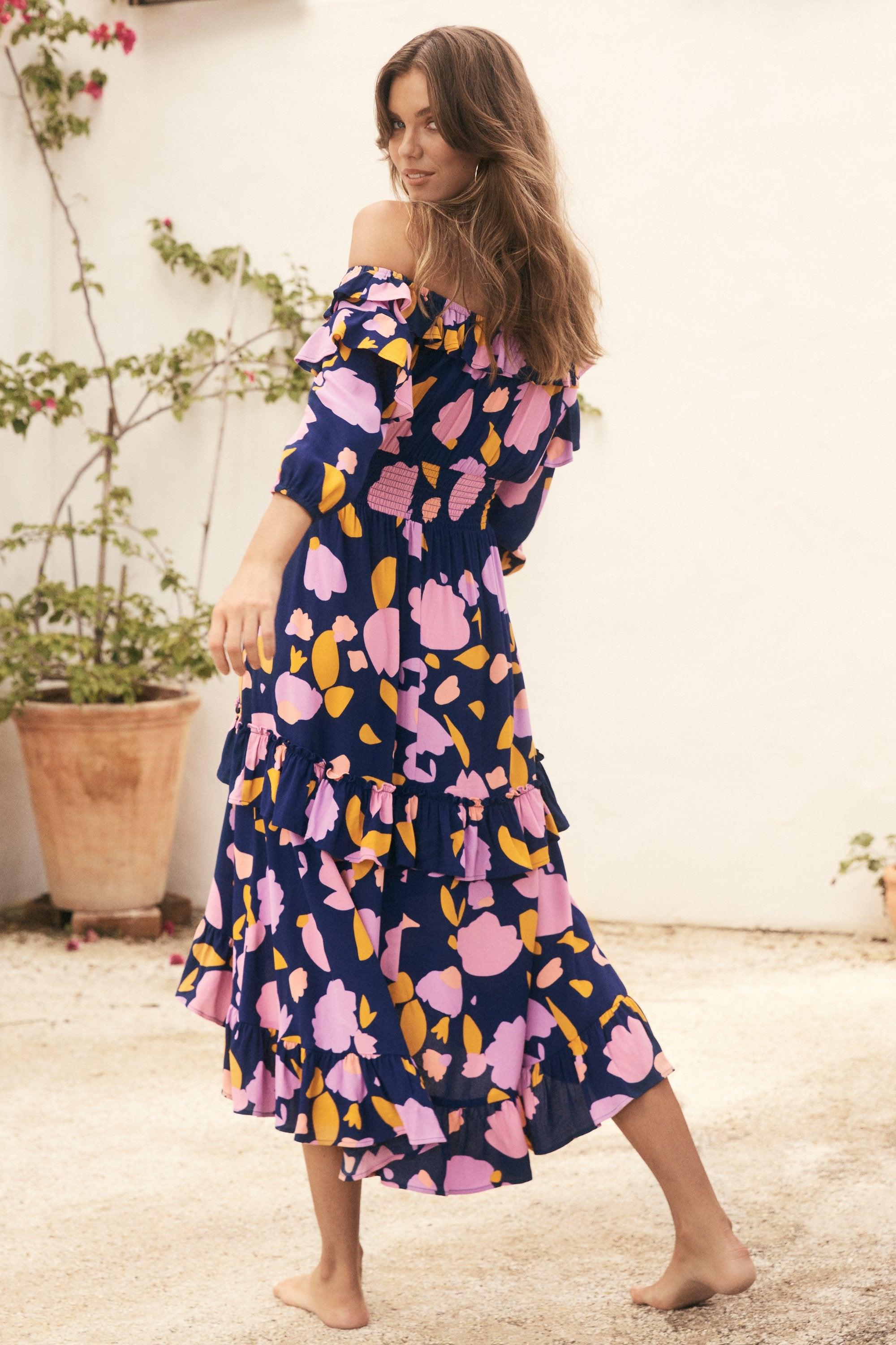 Agnes Dress In Wisteria