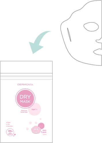 Dermovia DRY Mask Helpful Tips
