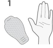 Dermovia Waterless Hand Mask Instructions Step 1
