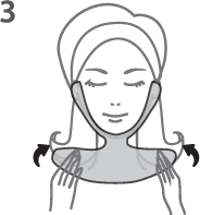Dermovia Waterless Neck Mask Instructions Step 3