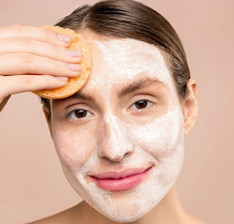 cleansing the skin daily