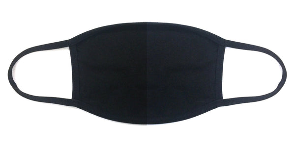 100% Cotton Made In The USA Plain Black Fabric Face Mask - BEAUTY & WELLNESS - NIGEL MARK