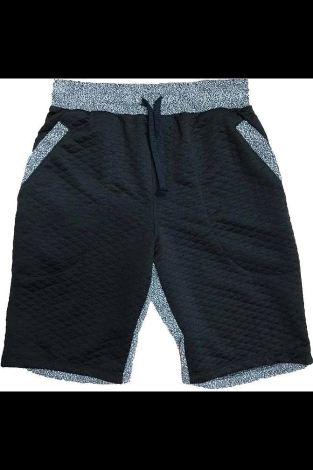 Black Contrast Shorts - Men | Nigel Mark