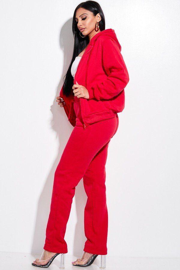 2 Piece Jacket Set - Red - WOMEN MATCHING SETS - NIGEL MARK