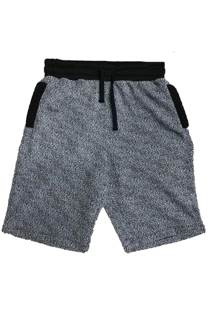 Gray Contrast Shorts - Men | Nigel Mark
