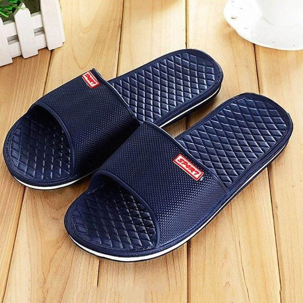 Casual Slippers Shoes For Men Solid Flat Bath - Navy - Men | Nigel Mark