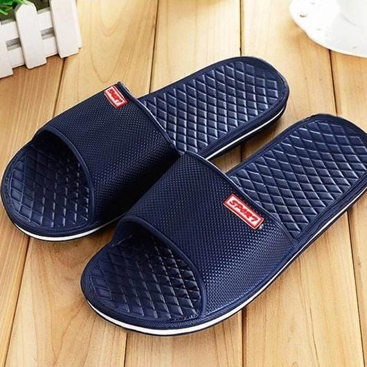 Casual Slippers Shoes For Men Solid Flat Bath