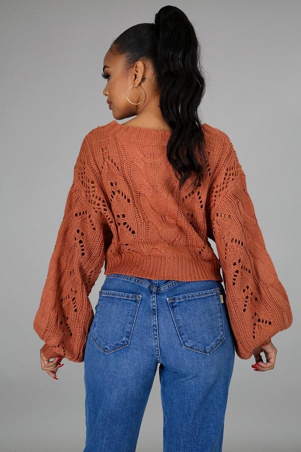 Massima Rust Sweater | NIGEL MARK
