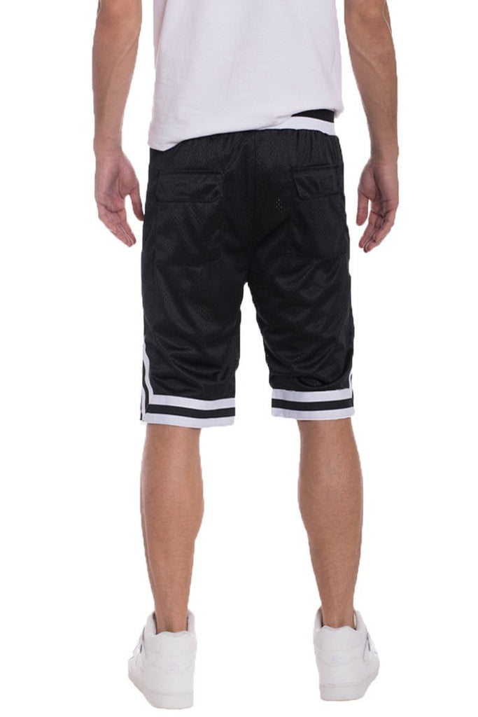 Edwin Double Mesh Shorts - Black / White - Men | Nigel Mark