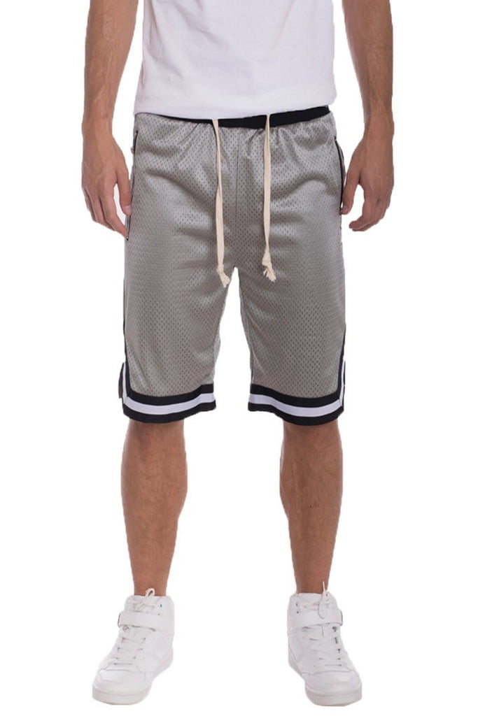 Edwin Double Mesh Shorts - Grey - Men | Nigel Mark