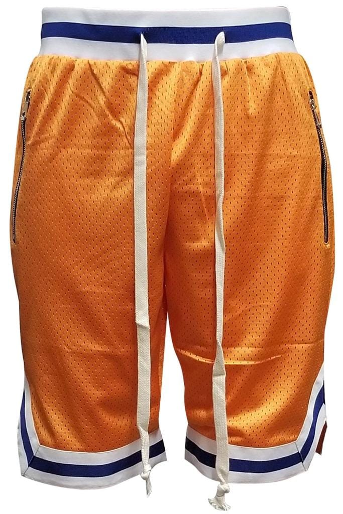 Edwin Double Mesh Shorts - Orange - Men | Nigel Mark