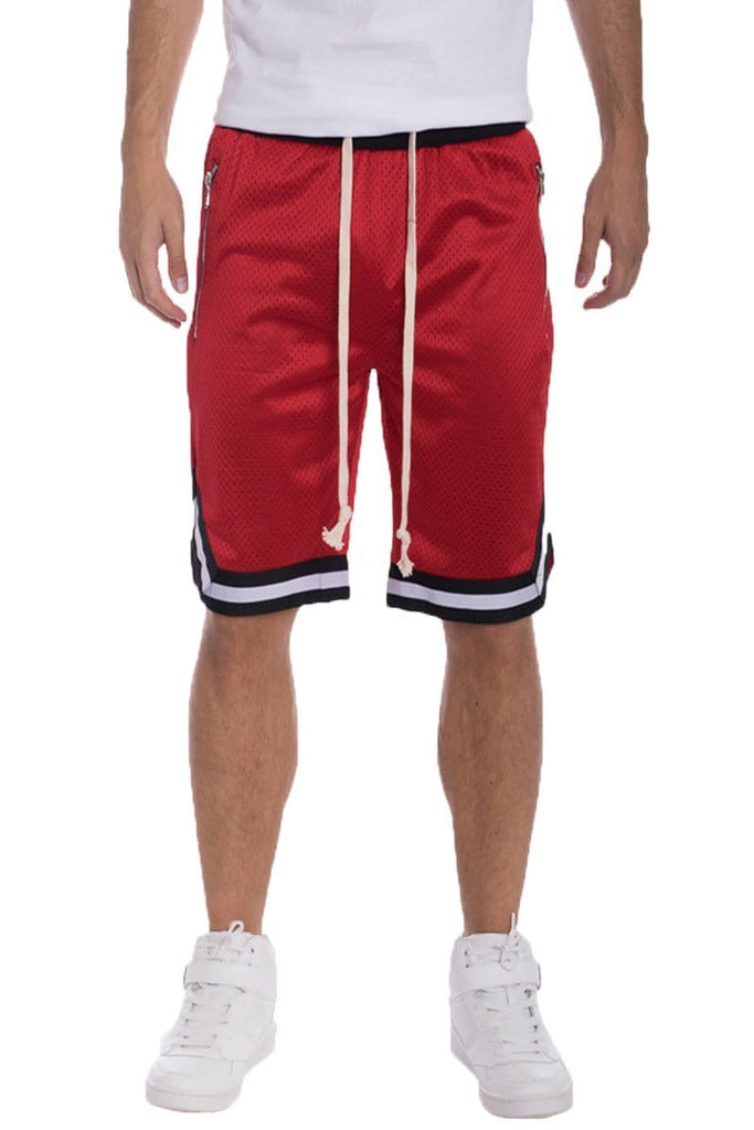 Edwin Double Mesh Shorts - Red - Men | Nigel Mark
