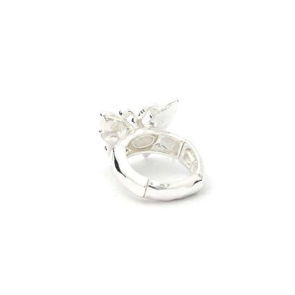Abalone Butterfly Stretch Ring - ACCESSORIES - NIGEL MARK