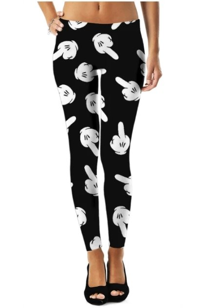 Abstract Glove Pattern Leggings - ACTIVEWEAR - NIGEL MARK