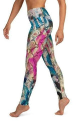 Abstract Print High Waist Leggings - ACTIVEWEAR - NIGEL MARK