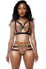 African Print Inspired Bikinis Set - SWIMWEAR - NIGEL MARK