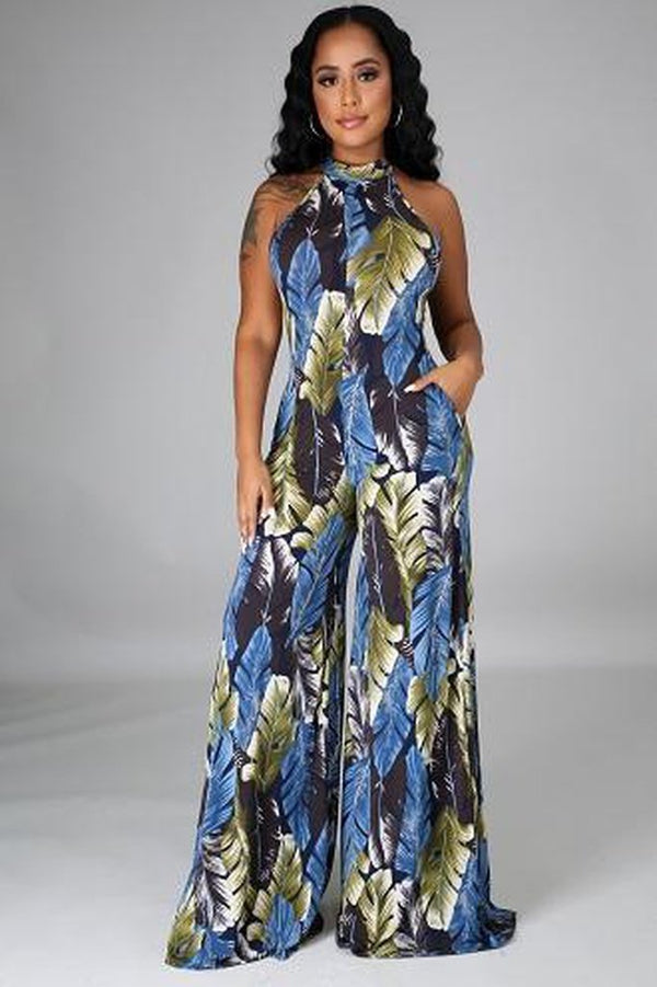 Agnesca Print Jumpsuit - JUMPSUITS & ROMPERS - NIGEL MARK